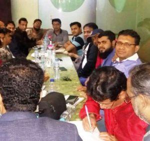 বাংলাদেশ প্রেস ক্লাব' ইউএই'র অভিষেক অনুষ্ঠানের প্রস্তুতি সভা